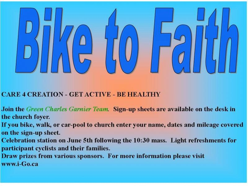 Bike to Faith | St  Charles Garnier